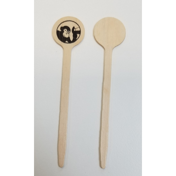 4-inch Wooden Pick (round top)