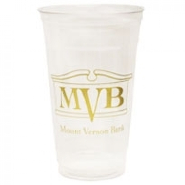 24 oz. Clear Plastic Cup (low qty)