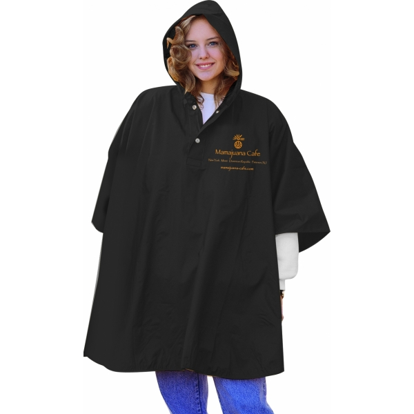 Custom printed core ponchos, 1000-12 colors